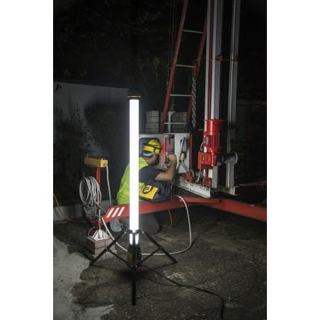 Luce led 54w 360° su treppiede cavo 3m e presa di servizio ST120 Luci 360° per il cantiere Velamp
