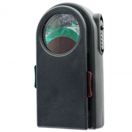 RAILWAY 2: 3 LED-Taschenlampe mit Farbfiltern und Morseknopf. Kunststoff, schwarz LC350 LED Taschenlampen Velamp