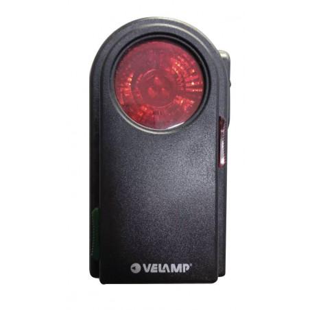 Torcia led 3 con filtri colorati e pulsante morse in plastica nero LC350 Torce Led Velamp