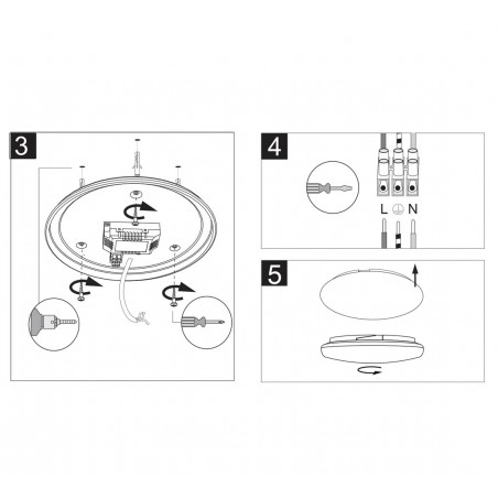 MOON XL: Plafoniera LED integrati 32W, 2400lm, 4000K, Ø39cm. Bianco PTLED32W Plafoniere LED Velamp