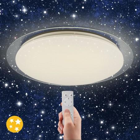 Plafoniera led 36w diametro46cm con cambio colore e telecomando starry STARRY Plafoniere led Velamp