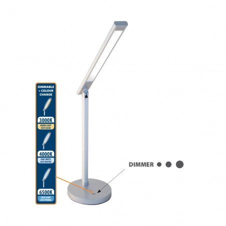 DROID 2: 7W LED table lamp. With dimmer and colour selection CCT TL1614 Velamp Desk lamps