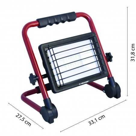 WAINGRO: Proyector LED SMD 50W para obras, con soporte, parrilla y cable de 3m. IS766 Velamp Proyectores con soporte en H