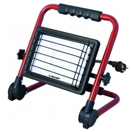 WAINGRO: 50W SMD LED Fluter mit Aluminiumhalterung und 3mt Kabel IS766 Strahler mit Stützen Velamp