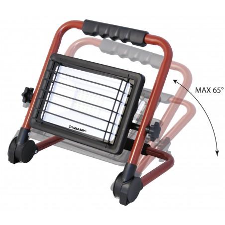 WAINGRO: Proiettore LED SMD 50W con staffa, griglia e cavo 3m IS766 Proiettori su supporto basso Velamp