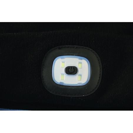 Cappellino con luce frontale torcia led ricaricabile + luce rossa ST011 Torce e luci da lavoro per il professionista Velamp