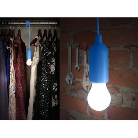 RETRO': Lampada LED con cordoncino -blu IL84-B Luci per armadi Velamp