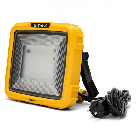 X-Blast 30W: LED Zonenlicht mit Kabel 2,5m - 3000lm STA30S Strahler mit Stützen Velamp