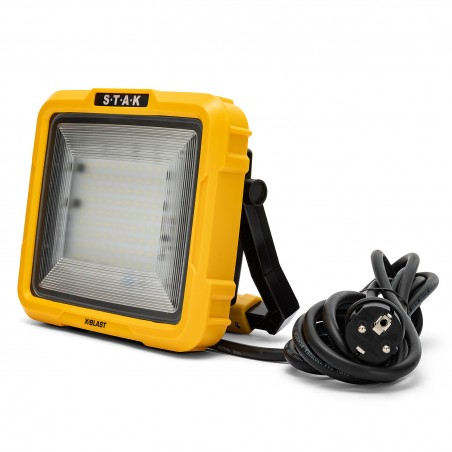 XBLAST 50W: LED zone light with 3m cable and socket - 4700lm STA50D Velamp Worklights on H stands