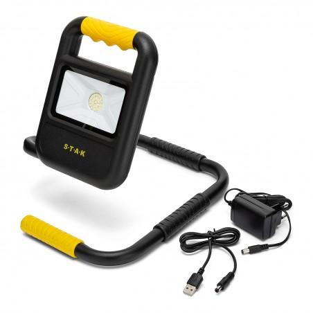 TOAD 2: floodlight ricaricabile 20W, pieghevole. Caricatore e powerbank ST898 Proiettori ricaricabili per il cantiere Velamp