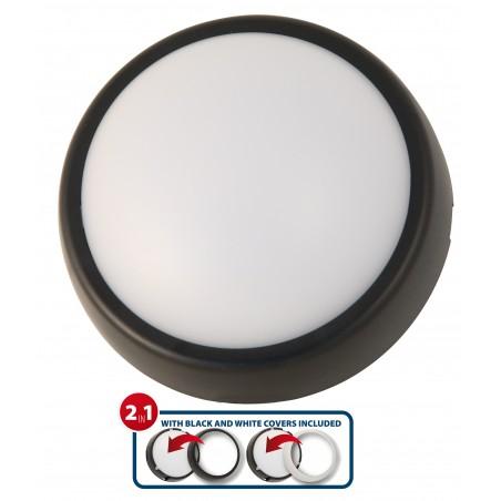UBLO2: applique LED ronde, 700 lumen, IP54. Fournie avec 2 covers UBLO2 Plafonniers Velamp