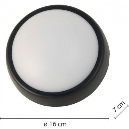 Plafoniera led tonda 700 lumen 2 cornici incluse ublo2 bianco e nero UBLO2 Plafoniere tonde Velamp