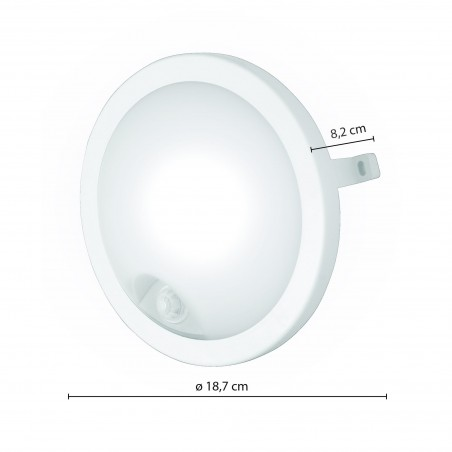 UBLO-XIR: 840lm round LED ceiling lamp with motion sensor. White UBLO-XIR Velamp Ceiling lamps