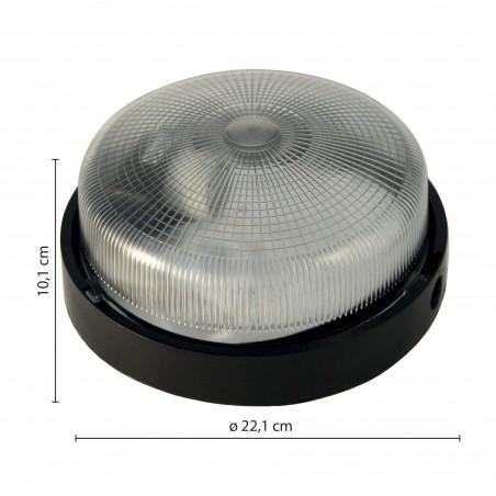 BIGBOB: 22cm glass ceiling lamp. Plastic base. E27 max 60W. Black BIGBOB-N Velamp Ceiling lamps