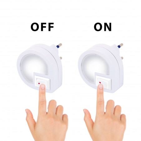 DROPLED: Veilleuse LED avec interrupteur ON/OFF, blanche IL35.012L Veilleuses Velamp