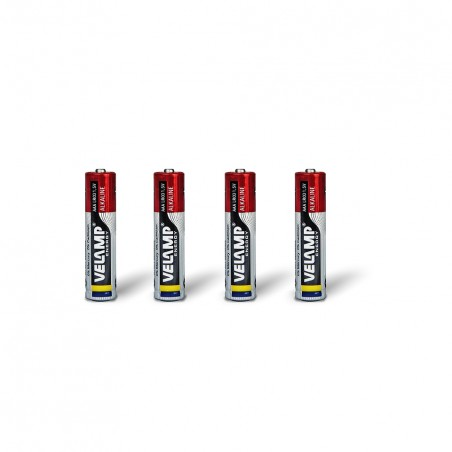 LR03 AAA 1,5V alkaline battery. Blister of 4 pieces LR03/4BP Velamp Alkaline