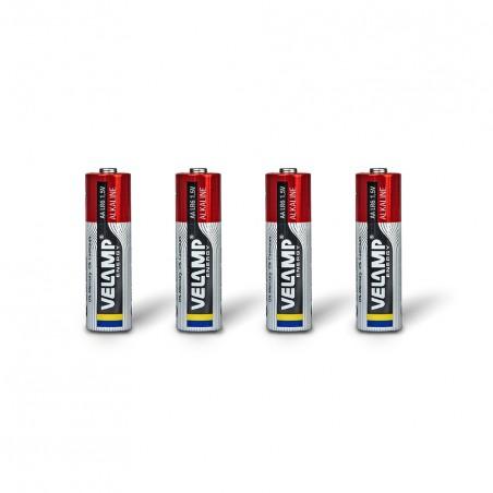 Batería alcalina, LR6 AA, 1.5V - Blister de 4 LR6/4BP Velamp Alcalinas