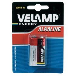 Pila alcalina 6lr61 9v 6LR61/1BP Pile alcaline Velamp