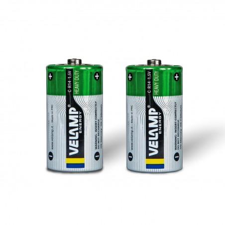 Zink Kohle R14 C 1,5V R14/2BP Zink-Kohle Velamp