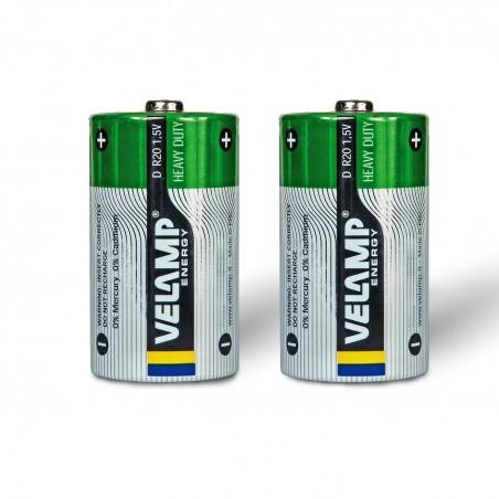 Pila Zinc Carbon R20 D  1,5V R20/2BP Velamp Salinas