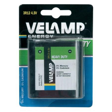 Pile plate 3R12 4,5V saline 3R12/1BP Salines Velamp