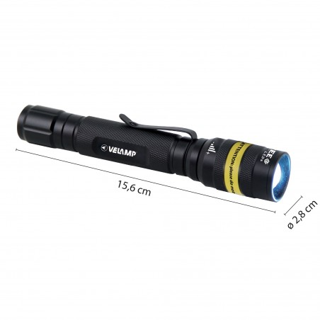 KOST: CREE 3W tactical flashlight, with zoom IM42.006L Velamp LED flashlights