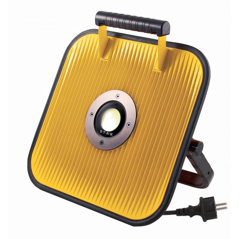 Faro da cantiere LED filare con altoparlante Bluetooth e presa di servizio IS180W.002S Proiettori filari per il cantiere Stak