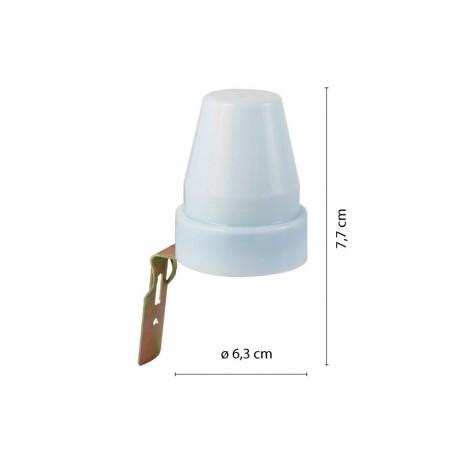 CIVETTA: interruptor crepuscular- IP44 MS012.006L Velamp Sensores de movimiento