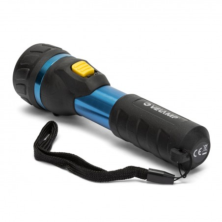 IMPULSE: 1W LED flashlight. Aluminium and rubber body. 2AA IP05 Velamp LED flashlights