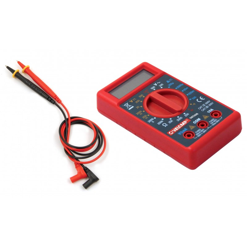 6 functions digital tester. With leads DMT600.006L Velamp Digital multimeters