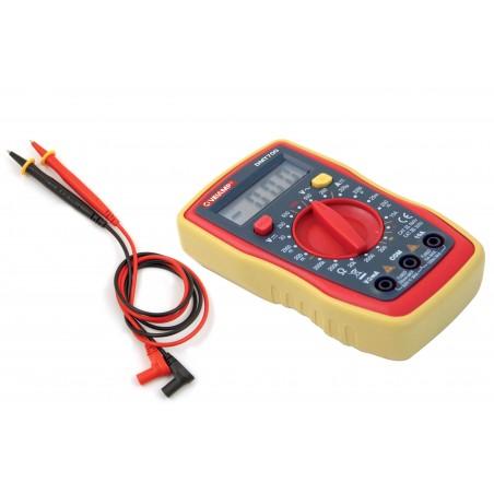 Tester digitale 7 in 1 con sonde, custodia di protezione e schermo retroilluminato DMT700.006L Multimetri digitali e tester V...
