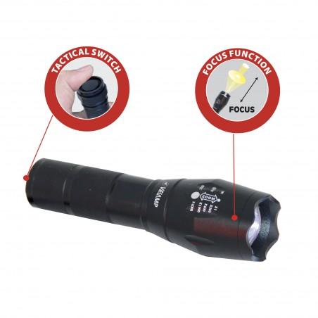 STEEL: torcia LED 10W in alluminio con zoom integrato IN247 Torce Velamp