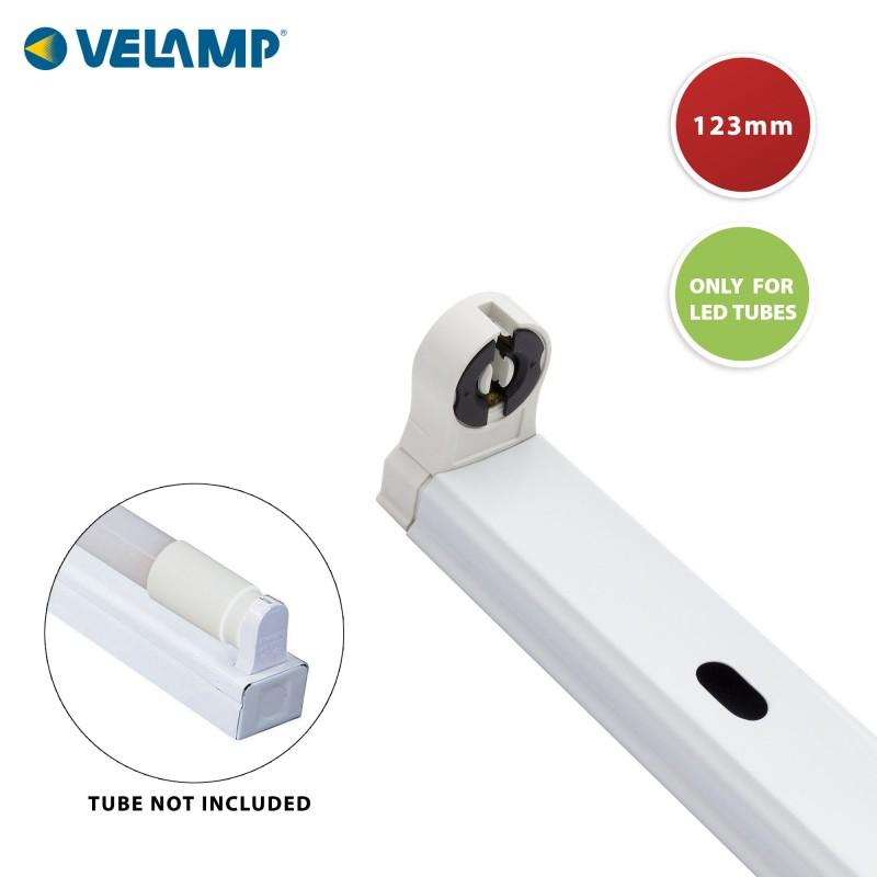 Plafoniera per 1 tubo LED T8 120cm, da interno PI20136 Reglettes per tubi LED T8 Velamp