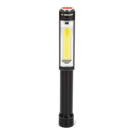 Torcia Led in alluminio cob 3w + flash rosso magnete big daddy IN256 Torce LED Velamp