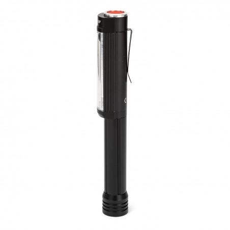 BIG DADDY: COB LED 3W Aluminium Taschenlampe. Roter Blitz. Super starker Magnet. IN256 LED Taschenlampen Velamp