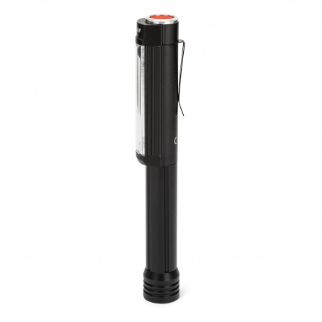 BIG DADDY: torche COB LED 3W en alu. Flash rouge. Aimant IN256 Torches LED Velamp