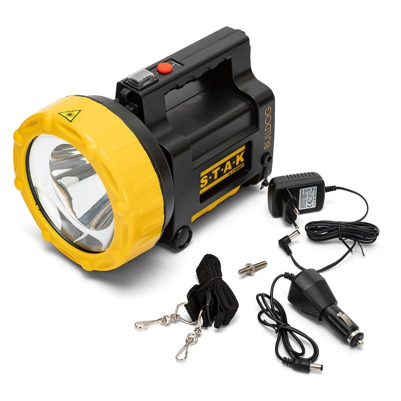 BULLDOG: Faro ricaricabile LED 30W CREE, 2200 lumen.  R930 Torce e luci da lavoro per il professionista Velamp