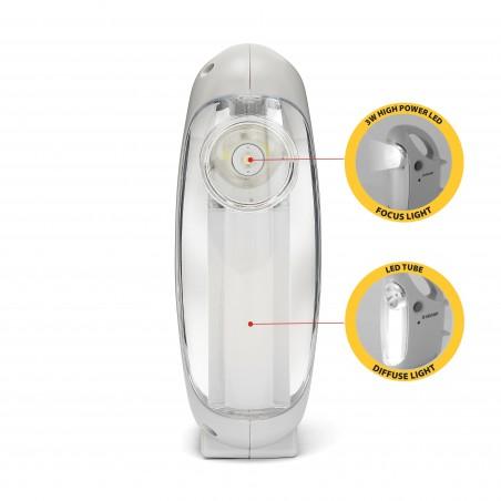 MINI OVIDEA: Lanterna ricaricabile anti blackout. Con torcia.  IR170EVO Luci di emergenza portatili Velamp