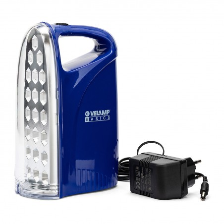 IRON LIGHT: 21 LED rechargeable anti black-out lantern. With AC/DC adaptor IR312 Velamp Portable emergency lamps