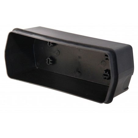 BRICK: IP54 E27 aluminium bulkhead lamp. Black IS720 Velamp Bulkheads