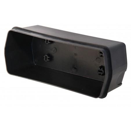 BRICK: Spot à encastrer extérieur E27 en fonte d'aluminium. Noir IS720 Appliques ovales Velamp