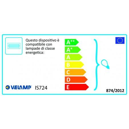 ZEBRA: segna passo da incasso E27 - Nero + griglia IS724 Applique ovali Velamp