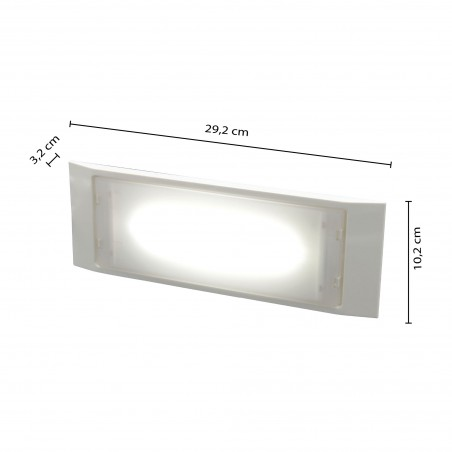 HOLLY: Extra slim LED wall emergency lamp. 140 lm, 2 hrs, IP65. Maintained + not maintained ER122 Velamp Luci di emergenza fi...