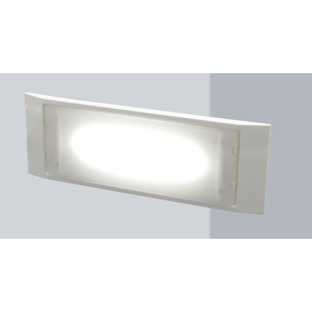HOLLY: Extra slim LED wall emergency lamp. 140 lm, 2 hrs, IP65. Maintained + not maintained ER122 Velamp Wall mounted emergen...