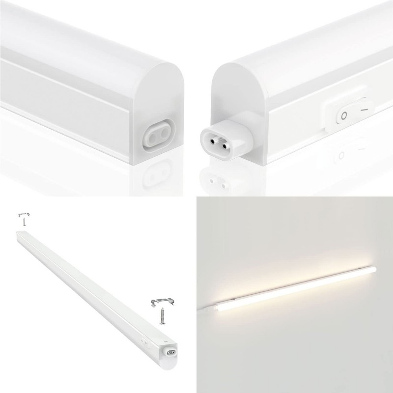 DURANDAL: 26 LED T5 batten with switch. 4W, 31cm, 4000K RS4-4W.010S Velamp T5 size LED bar lights