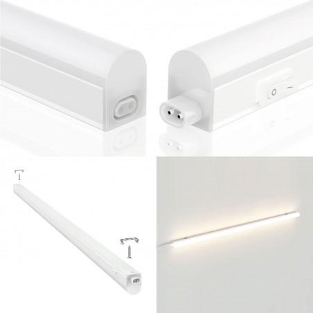 Reglette sottopensile LED, 8W, lunghezza 57,6 cm, con interruttore, 4000K RS8-8W.010S Reglettes LED T5 sottopensile Velamp