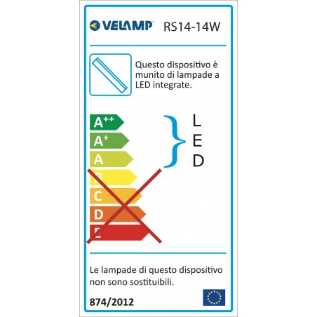 DURANDAL: 90 LED T5 batten with switch. 14W, 117,3cm, 4000K RS14-14W.010S Velamp T5 size LED bar lights