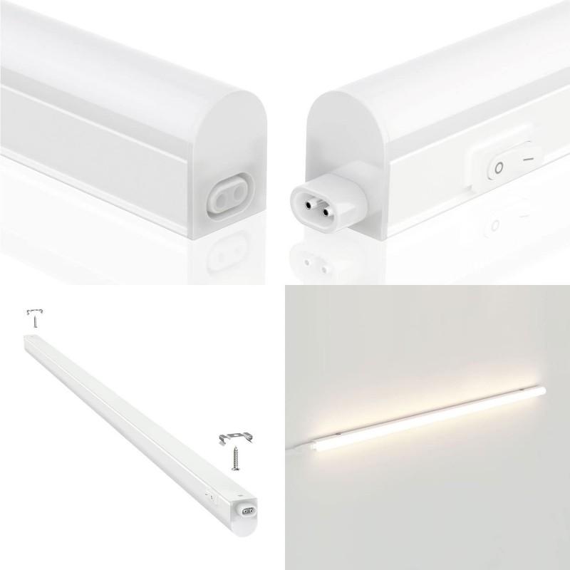 Reglette sottopensile LED, 14W, lunghezza 117,3 cm, con interruttore, 4000K RS14-14W.010S Reglettes LED T5 sottopensile Velamp