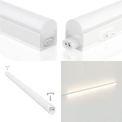 Reglette sottopensile LED, 10W, lunghezza 87,3 cm, con interruttore, 4000K RS10-10W.010S Reglettes LED T5 sottopensile Velamp