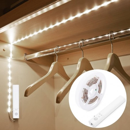 SILK: 1meter 2W LED strip LED with motion sensor LT018 Velamp Closet lights